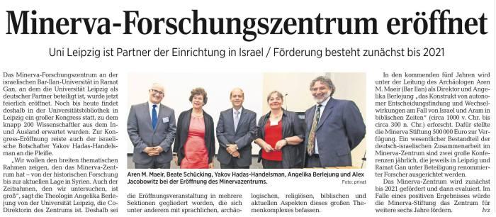 Minerva Center in Leipziger Volkszeitung