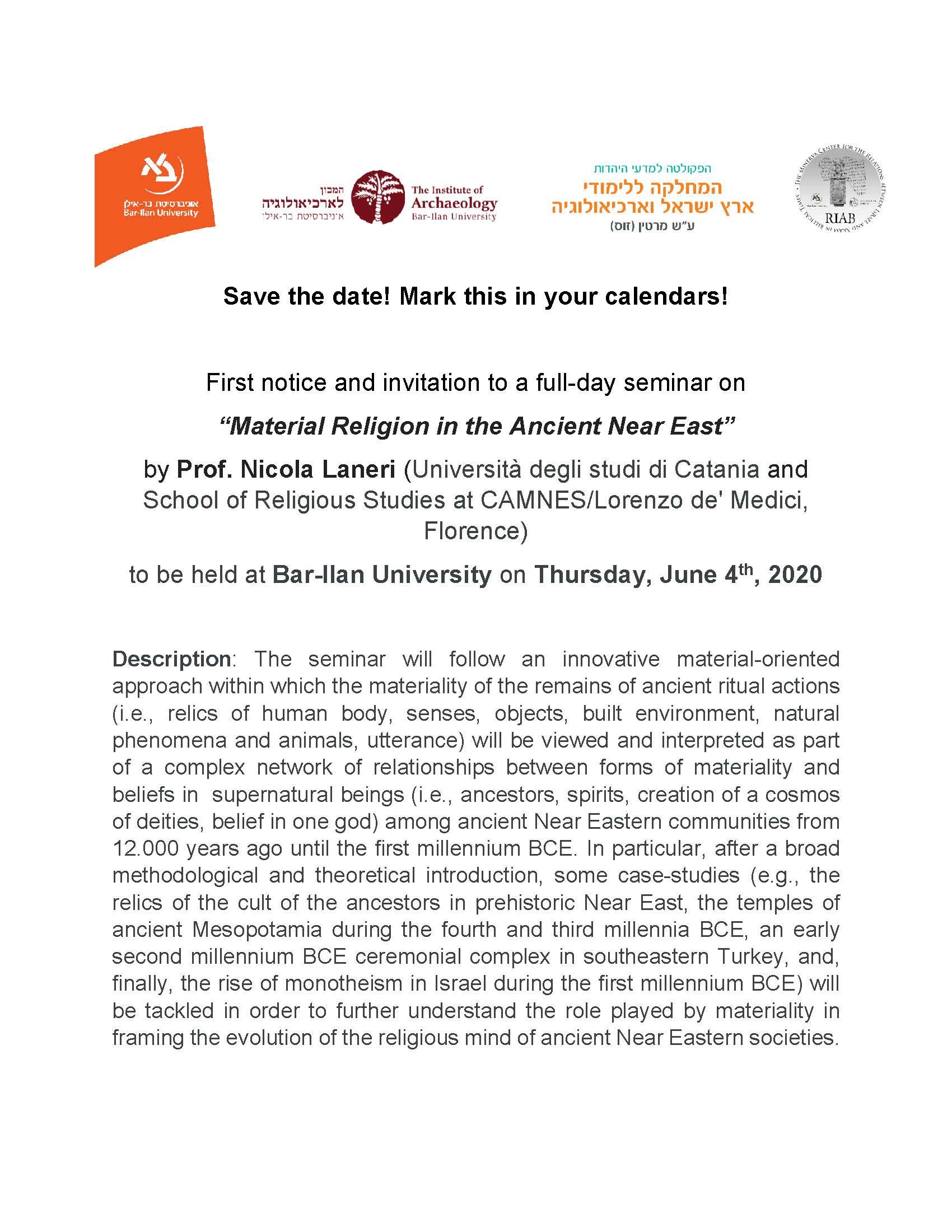 Laneri seminar first notice